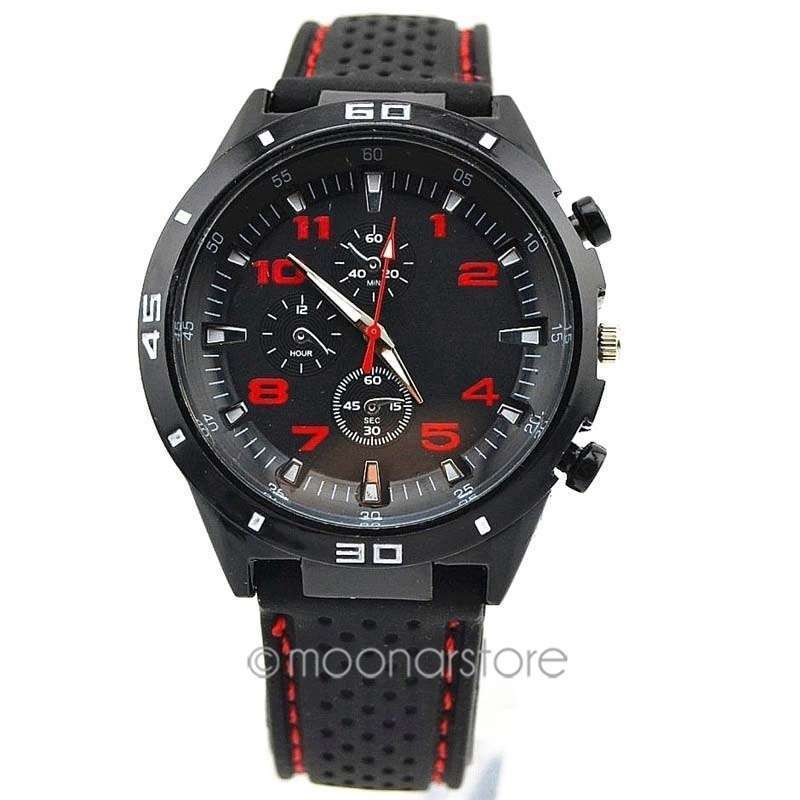 Men Cycle Racing Stainless Steel Watch Sport Wrist Watch-1