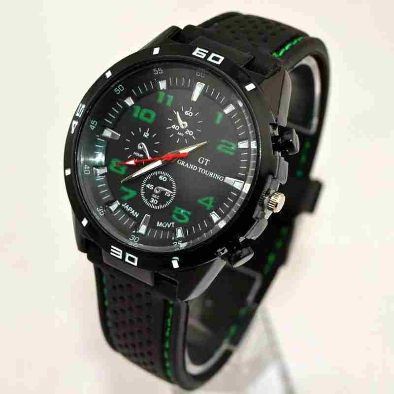 Men Cycle Racing Stainless Steel Watch Sport Wrist Watch-10