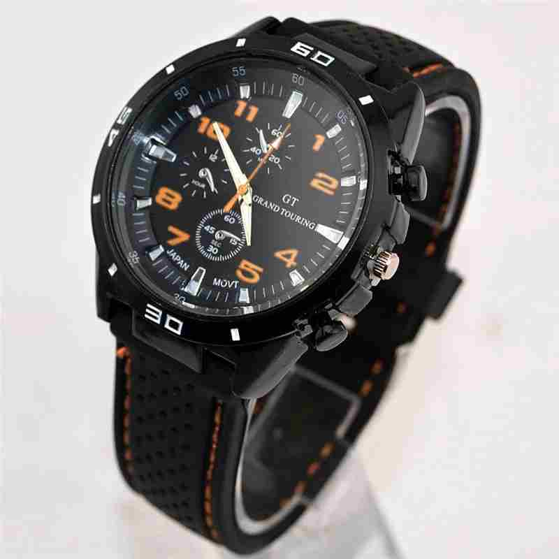 Men Cycle Racing Stainless Steel Watch Sport Wrist Watch-11