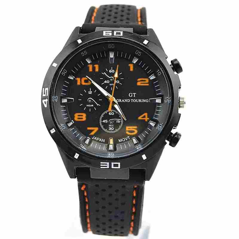 Men Cycle Racing Stainless Steel Watch Sport Wrist Watch-12
