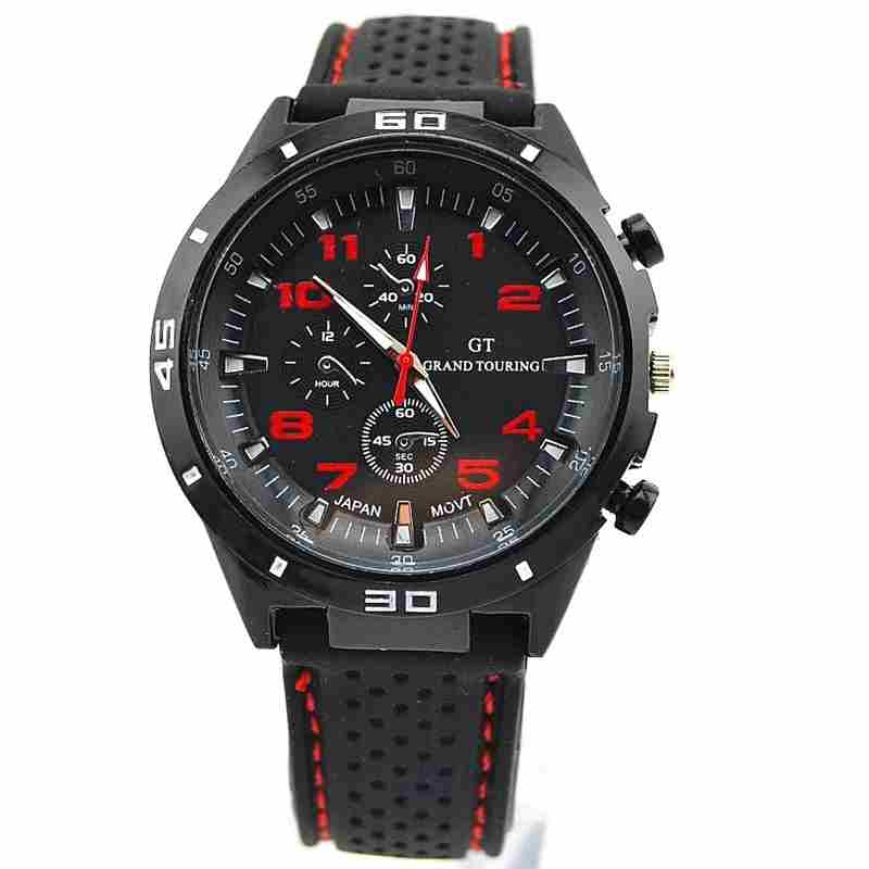 Men Cycle Racing Stainless Steel Watch Sport Wrist Watch-14