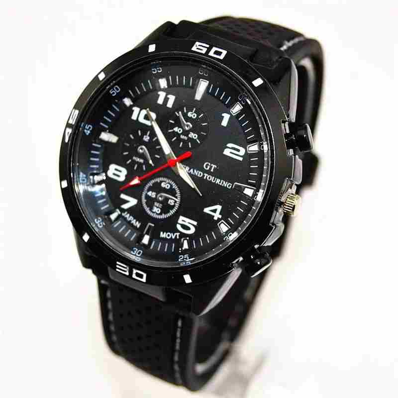 Men Cycle Racing Stainless Steel Watch Sport Wrist Watch-15