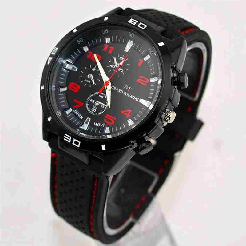 Men Cycle Racing Stainless Steel Watch Sport Wrist Watch-16