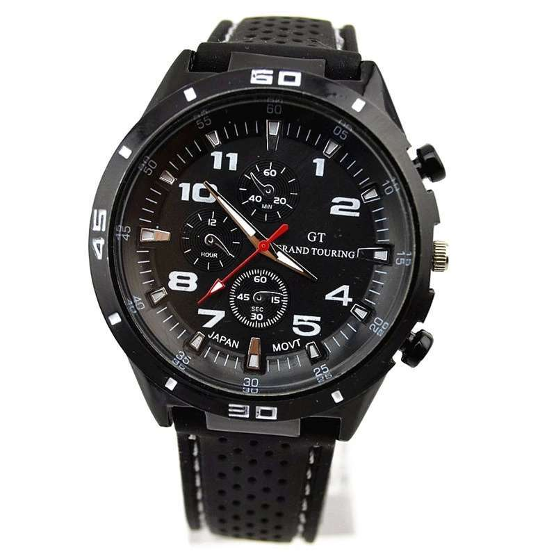 Men Cycle Racing Stainless Steel Watch Sport Wrist Watch-17