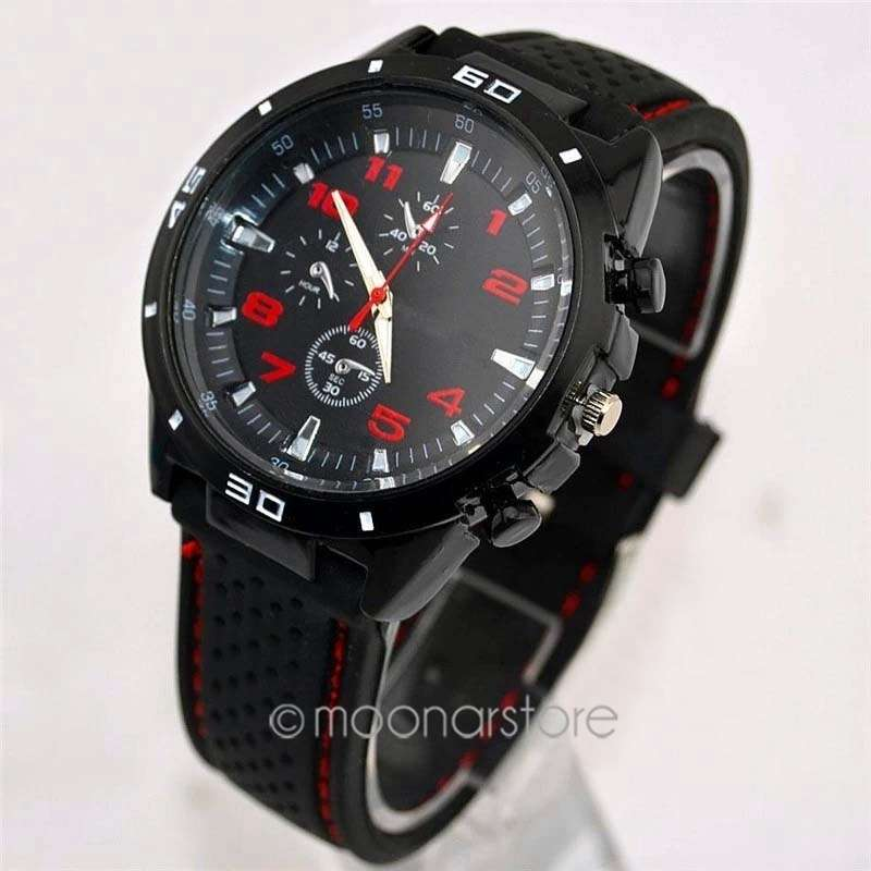 Men Cycle Racing Stainless Steel Watch Sport Wrist Watch-3