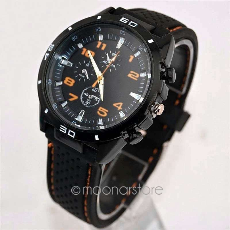 Men Cycle Racing Stainless Steel Watch Sport Wrist Watch-5