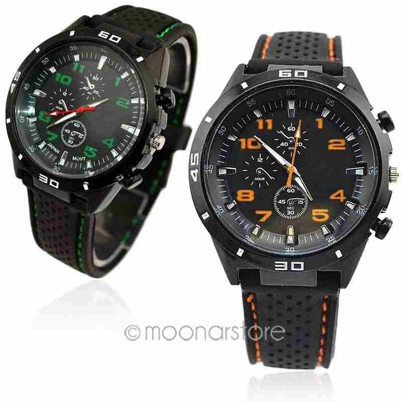 Men Cycle Racing Stainless Steel Watch Sport Wrist Watch-6
