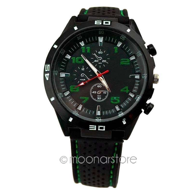 Men Cycle Racing Stainless Steel Watch Sport Wrist Watch-7