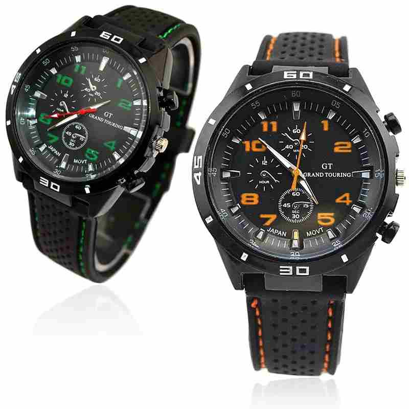Men Cycle Racing Stainless Steel Watch Sport Wrist Watch-9