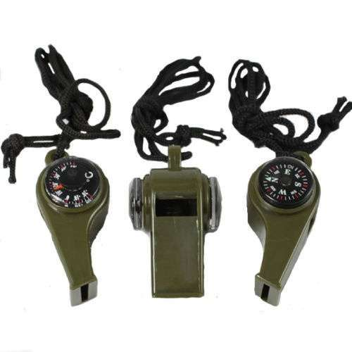 New 3 in1 Camping Outdoor Sports Camping Hiking Survival Emergency Gear Whistle Thermometer-2