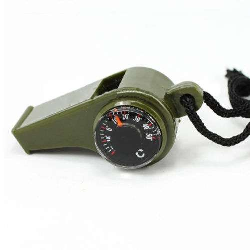 New 3 in1 Camping Outdoor Sports Camping Hiking Survival Emergency Gear Whistle Thermometer-3