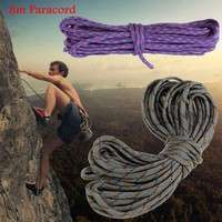 X2zR-8m Survival 7 Core Strand Nylon Paracord Parachute Cord Round Rope For Climbing Hiking