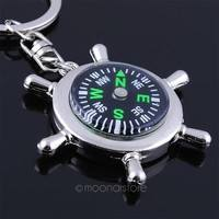 X3ts-Compass Rudder Helm Key Ring Chain Key Chain Key Fob Gift