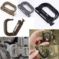 XCsu-Molle Tactical Backpack EDC Shackle Snap D-Ring Clip KeyRing New Carabiner
