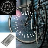 XEDD-12pcs Bicycle Wheel Rim Spoke Bike Mount Tube Warning Light Strip Reflector DIY