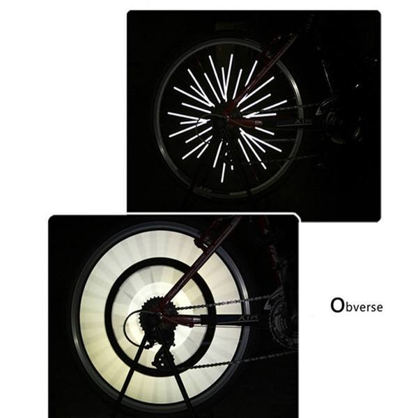 Bicycle Wheel Spoke Reflector Reflective Mount Clip Tube Warning Strip 12pcs TS