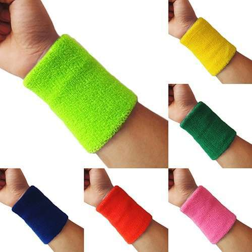 Popular Unisex Sport accessories Wrist Sweatband Tennis Squash Badminton GYM Basketball Wristband wrist protector