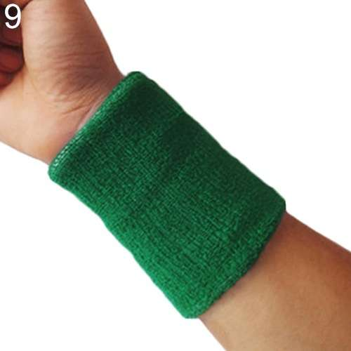 Popular Unisex Sport accessories Wrist Sweatband Tennis Squash Badminton GYM Basketball Wristband wrist protector-1