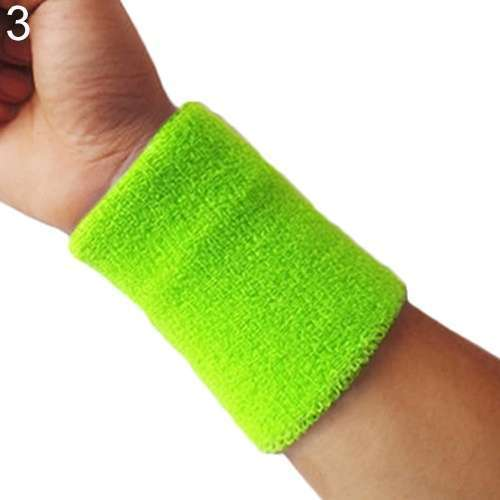 Popular Unisex Sport accessories Wrist Sweatband Tennis Squash Badminton GYM Basketball Wristband wrist protector-10