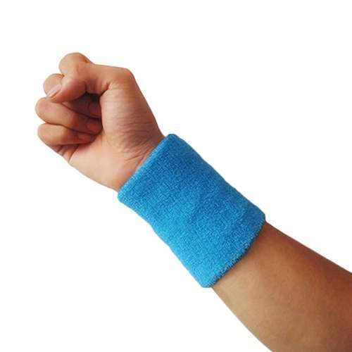 Popular Unisex Sport accessories Wrist Sweatband Tennis Squash Badminton GYM Basketball Wristband wrist protector-12
