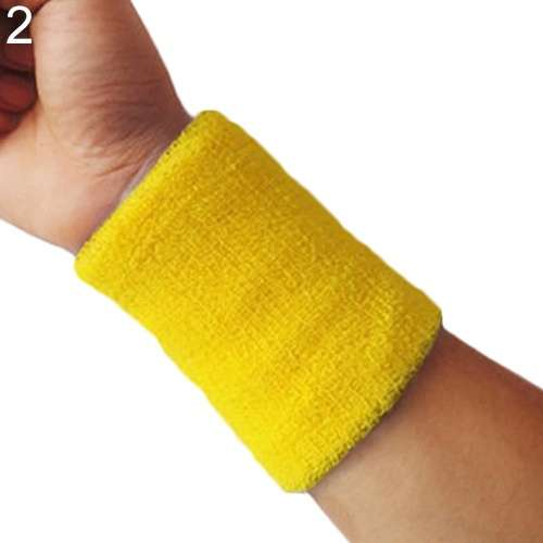 Popular Unisex Sport accessories Wrist Sweatband Tennis Squash Badminton GYM Basketball Wristband wrist protector-2