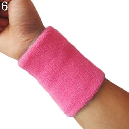 Popular Unisex Sport accessories Wrist Sweatband Tennis Squash Badminton GYM Basketball Wristband wrist protector-3