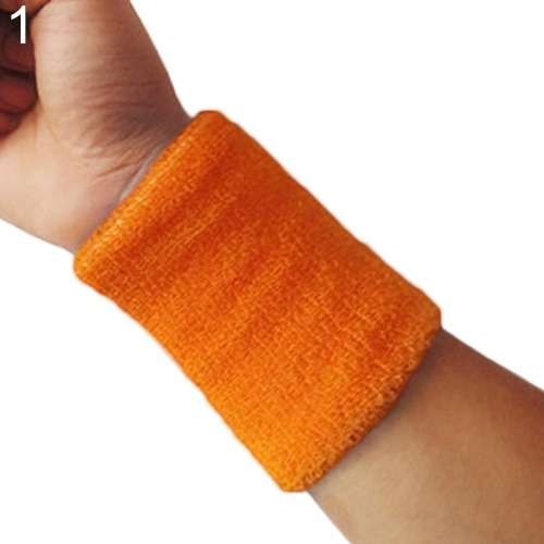 Popular Unisex Sport accessories Wrist Sweatband Tennis Squash Badminton GYM Basketball Wristband wrist protector-4