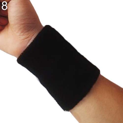 Popular Unisex Sport accessories Wrist Sweatband Tennis Squash Badminton GYM Basketball Wristband wrist protector-5