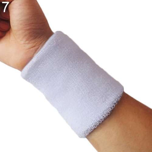 Popular Unisex Sport accessories Wrist Sweatband Tennis Squash Badminton GYM Basketball Wristband wrist protector-6