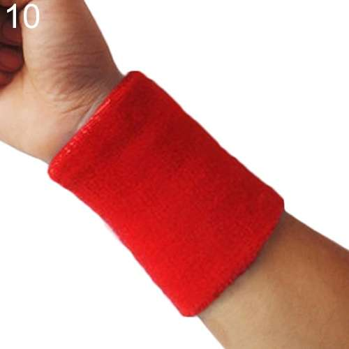 Popular Unisex Sport accessories Wrist Sweatband Tennis Squash Badminton GYM Basketball Wristband wrist protector-7