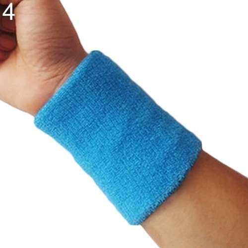 Popular Unisex Sport accessories Wrist Sweatband Tennis Squash Badminton GYM Basketball Wristband wrist protector-8