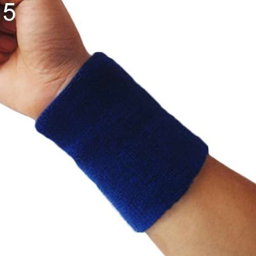 Popular Unisex Sport accessories Wrist Sweatband Tennis Squash Badminton GYM Basketball Wristband wrist protector-9