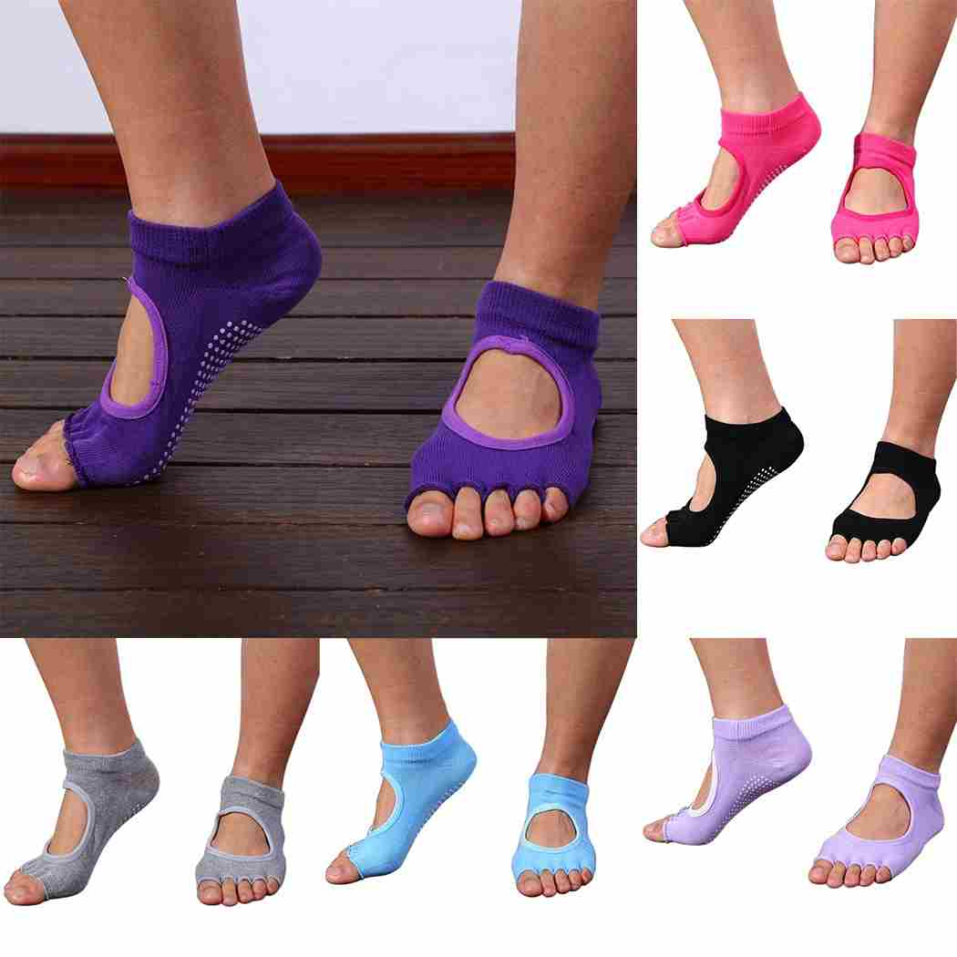 Five Toes Exercise Yoga Anti-slip Pilates Socks 6 Colors