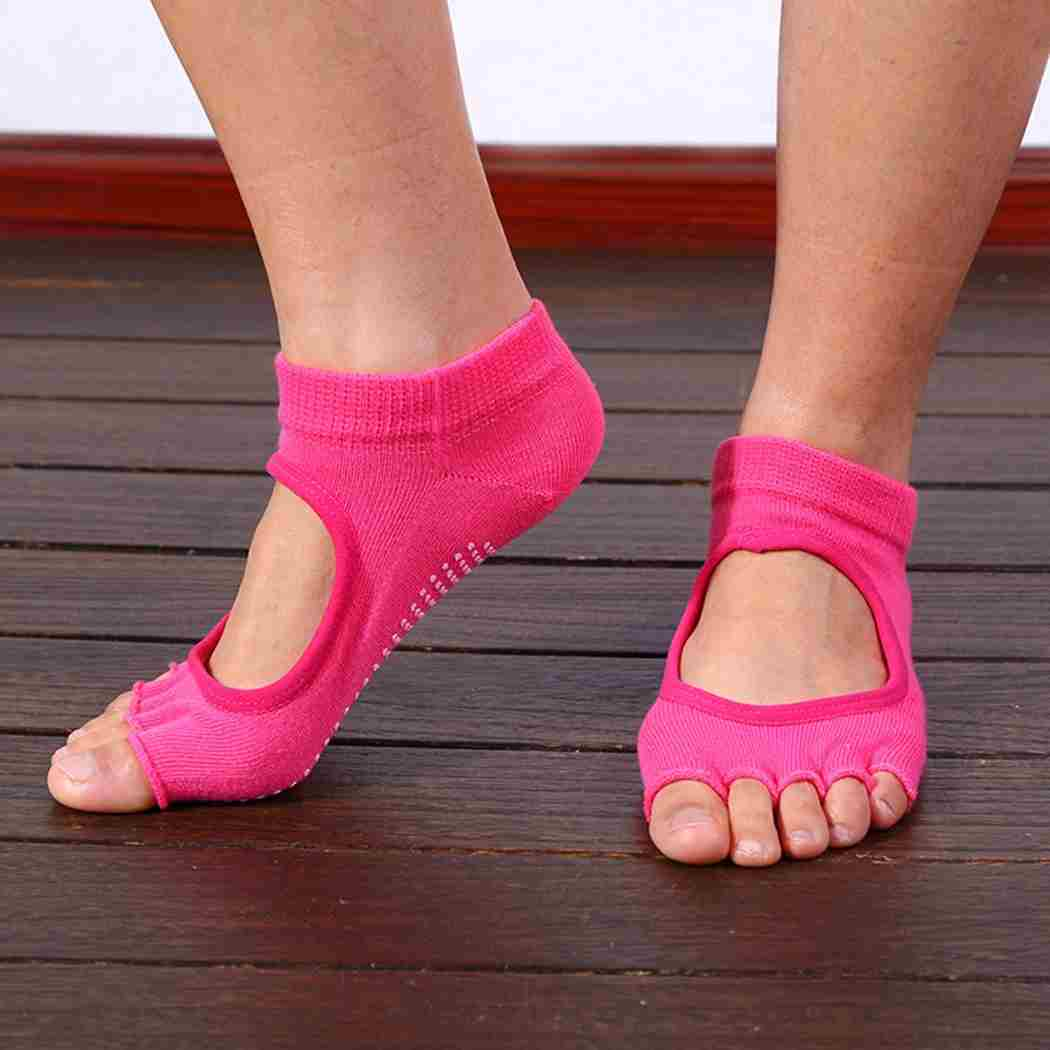 Five Toes Exercise Yoga Anti-slip Pilates Socks 6 Colors-1