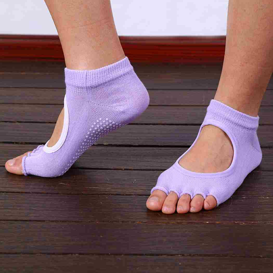 Five Toes Exercise Yoga Anti-slip Pilates Socks 6 Colors-2