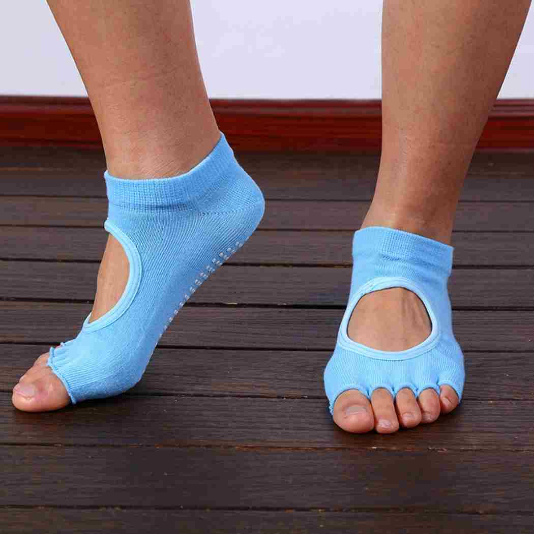 Five Toes Exercise Yoga Anti-slip Pilates Socks 6 Colors-3