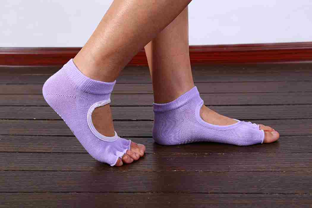 Five Toes Exercise Yoga Anti-slip Pilates Socks 6 Colors-5