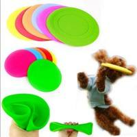 XQht-Large Pet Dog Flying Disc Tooth Resistant Training Fetch Toy Play Frisbee