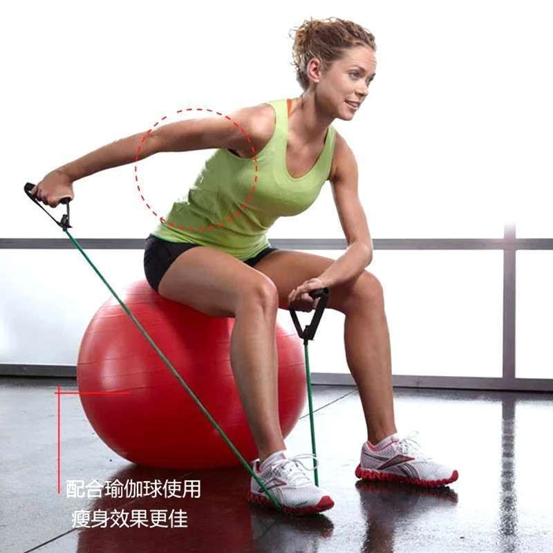 Word Tensile Rope Fitness Yoga Pull Rope Natural Latex Tube With Elastic Rope Chest Expander-25