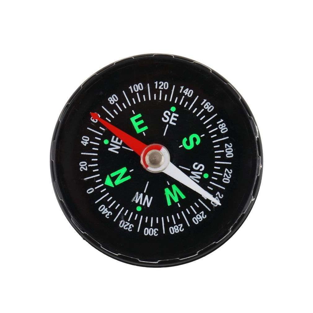 Mini Pocket Button Compass Direction for Climbing Hiking Camping Sport-1