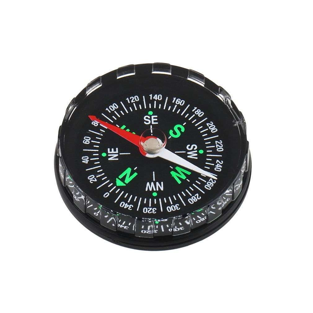 Mini Pocket Button Compass Direction for Climbing Hiking Camping Sport-2