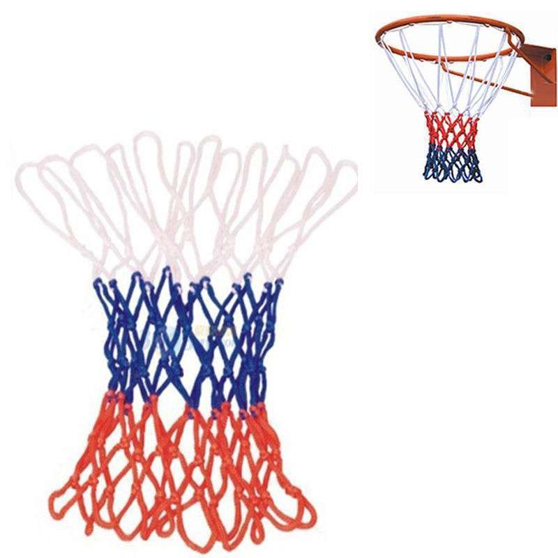 Hot Sale Red White Blue New Basketball Nets 5mm Nylon Goal Rim Mesh High Quality