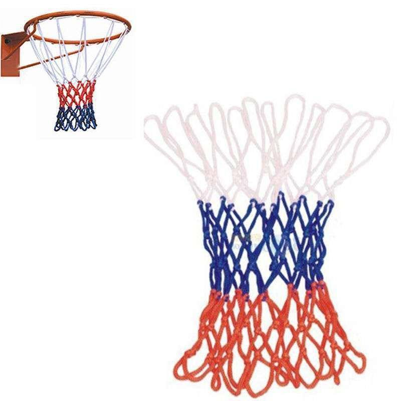 Hot Sale Red White Blue New Basketball Nets 5mm Nylon Goal Rim Mesh High Quality-1