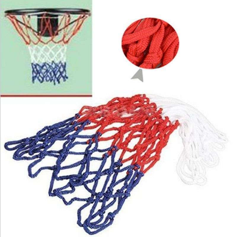 Hot Sale Red White Blue New Basketball Nets 5mm Nylon Goal Rim Mesh High Quality-2