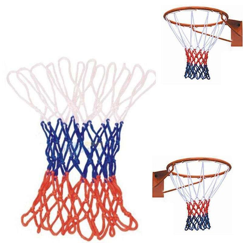 s2netXaf5 | Hot Sale Red White Blue New Basketball Nets 5mm Nylon Goal Rim  Mesh High Quality