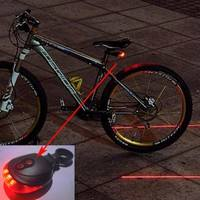 XbvA-5 LED + 2 Laser Cycling Bicycle Rear Lamp
