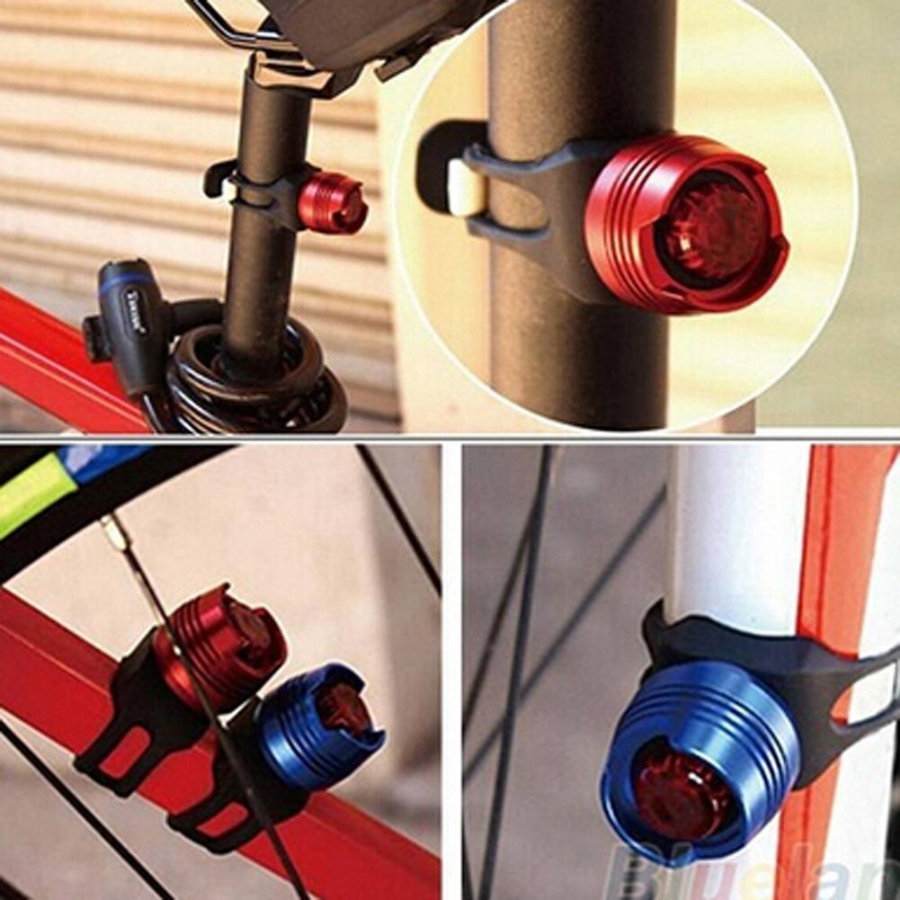 Bike Bicycle Helmet Red LED Rear Light 3 Modes Safety Tail 4 Colors Lamp
