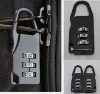 XeuE-Travel Combination Lock Padlocks Case Bag Password Digit Code