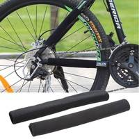 XkQ4-Bike Cycling Frame Chain Stay Posted Protector Care Cover Guards Black