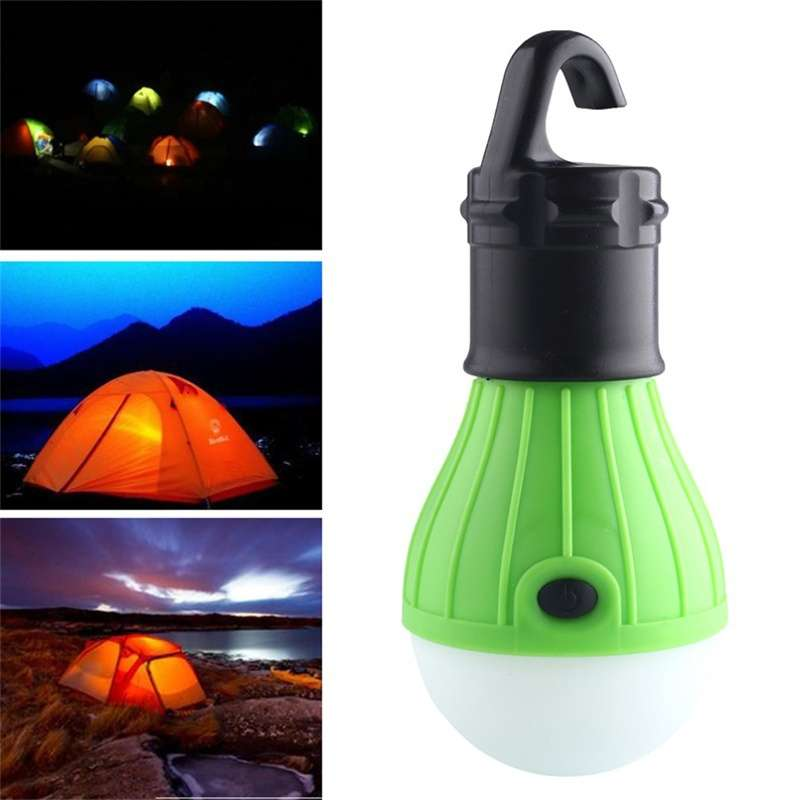 Portable Hanging 3 LED Camping Tent Light Bulb Fishing Lantern Lamp Torch-2
